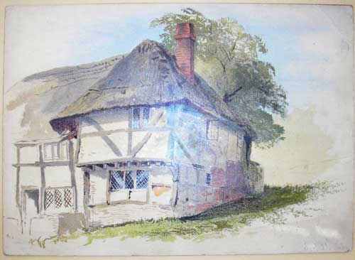 Old Cottage Watercolour - courtesy George Wallner