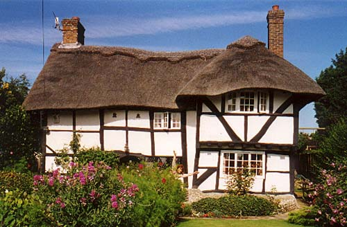 Lancing postcards buildings domestic for Old cottage house plans
