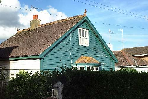 green  cladded cottage Roberts Road Lancing