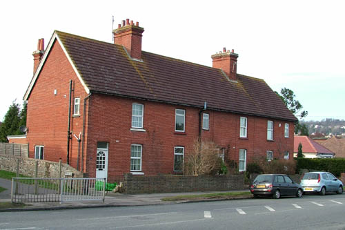 red brick cottages