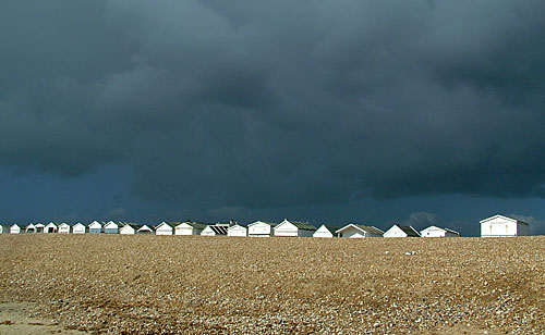 Beach Huts before rain