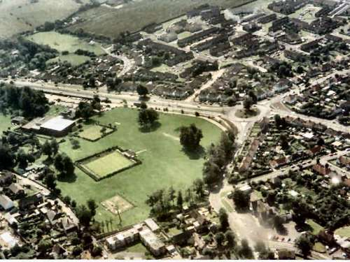 Lancing Manor ground from the air